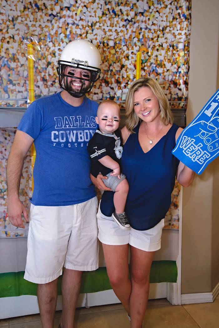 End Zone photo booth from a Football 1st Birthday Party via Kara's Party Ideas KarasPartyIdeas.com (11)
