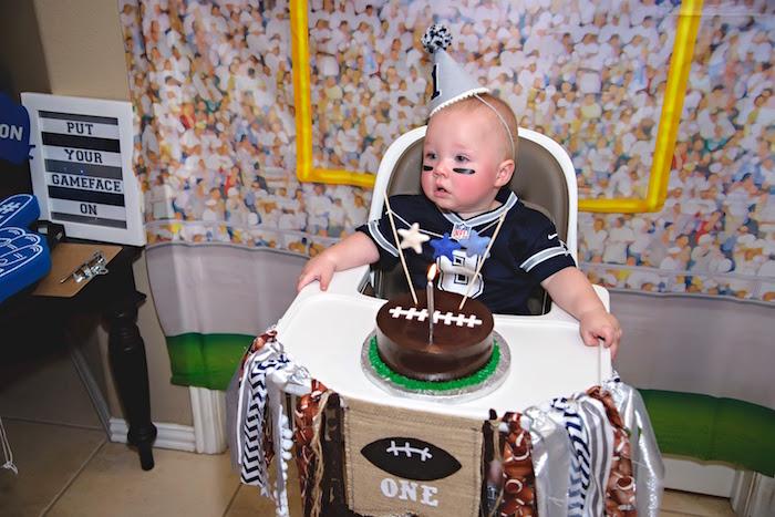 Football Themed Smash Cake