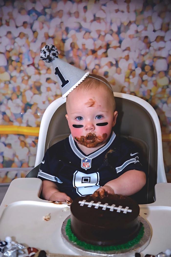 Kara S Party Ideas Football 1st Birthday Party Kara S