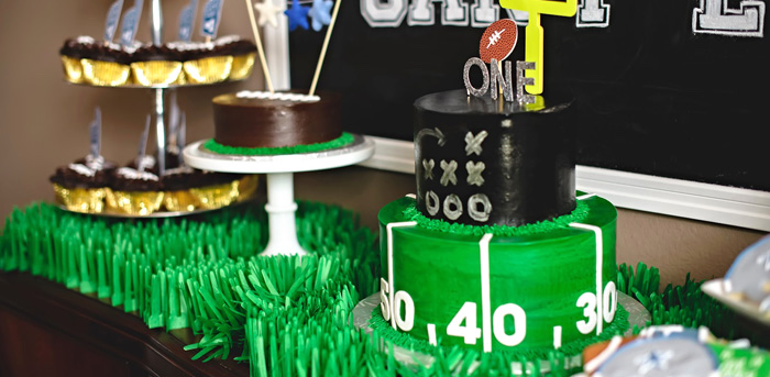 Football 1st Birthday Party via Kara's Party Ideas KarasPartyIdeas.com (4)