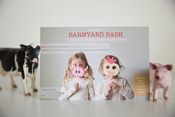 Barnyard party invitation from a Glamorous Barnyard Birthday Bash via Kara's Party Ideas | KarasPartyIdeas.com (40)