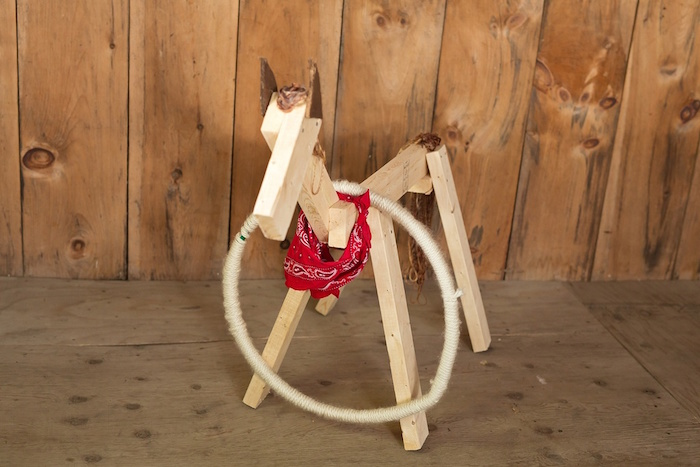 Wooden horse from a Glamorous Barnyard Birthday Bash via Kara's Party Ideas | KarasPartyIdeas.com (17)