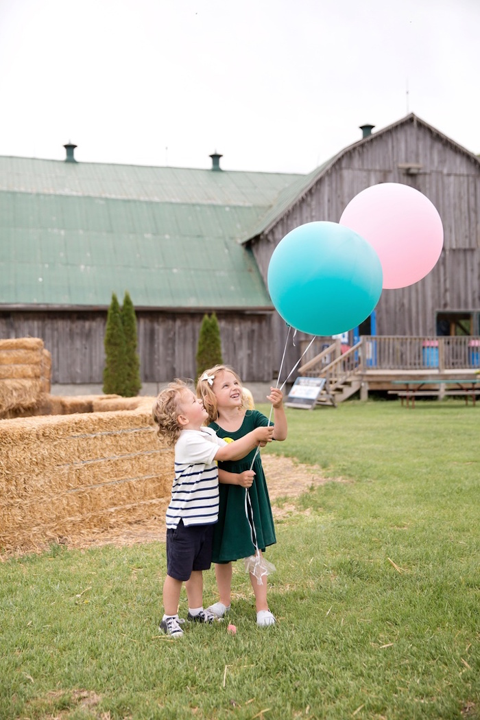 Balloon photo op from a Glamorous Barnyard Birthday Bash via Kara's Party Ideas | KarasPartyIdeas.com (4)