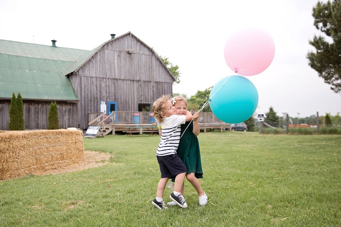 Balloon photo op from a Glamorous Barnyard Birthday Bash via Kara's Party Ideas | KarasPartyIdeas.com (3)
