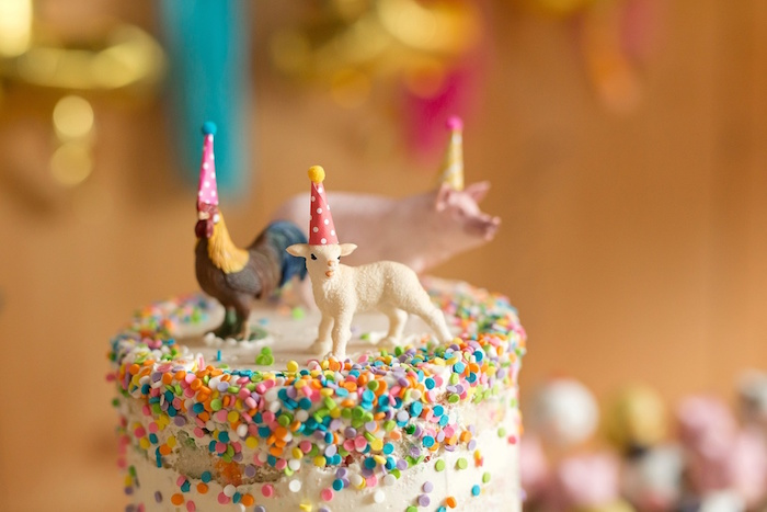 Farm animal cake toppers from a Glamorous Barnyard Birthday Bash via Kara's Party Ideas | KarasPartyIdeas.com (36)