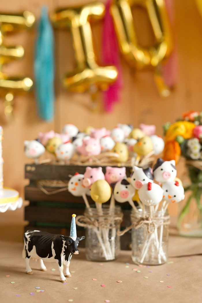Party details from a Glamorous Barnyard Birthday Bash via Kara's Party Ideas | KarasPartyIdeas.com (32)