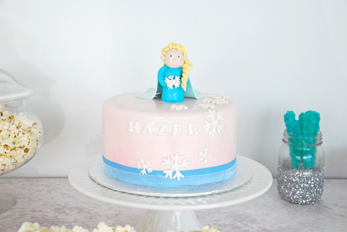 Cake from a Glam Frozen Themed Birthday Party via Kara's Party Ideas KarasPartyIdeas.com (10)