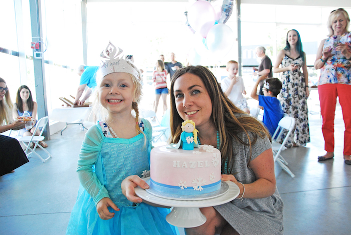 Birthday girl from a Glam Frozen Themed Birthday Party via Kara's Party Ideas KarasPartyIdeas.com (3)