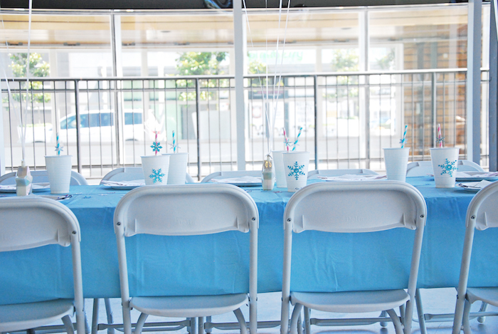 Frozen Party guest tablescape from a Glam Frozen Themed Birthday Party via Kara's Party Ideas KarasPartyIdeas.com (18)