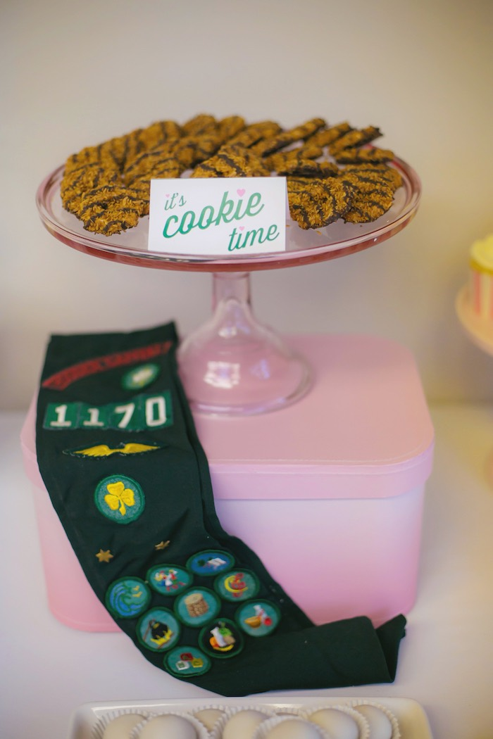Cookies + decor from a Glam Girl Scout Mother Daughter Luncheon via Kara's Party Ideas | KarasPartyIdeas.com (25)
