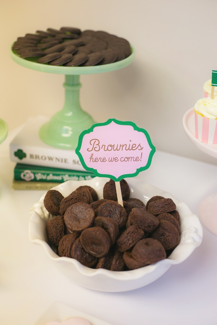 Kara S Party Ideas Glam Girl Scout Mother Daughter