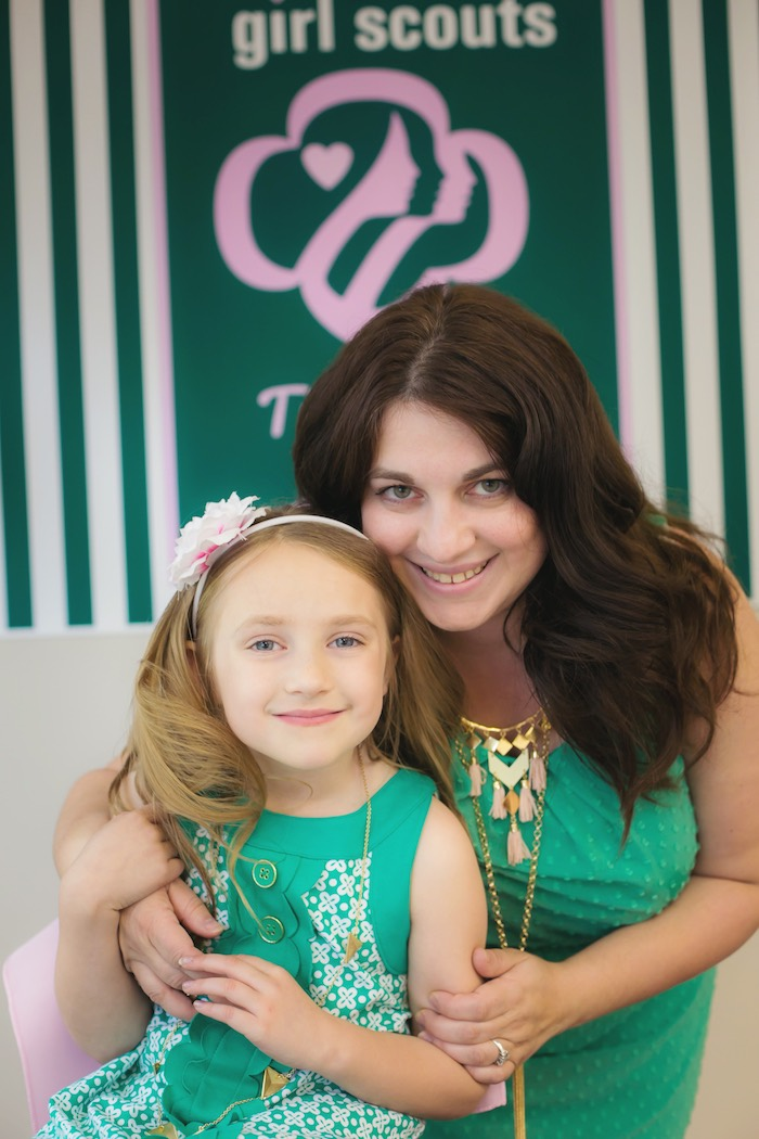 Mother-Daughter Pair from a Glam Girl Scout Mother Daughter Luncheon via Kara's Party Ideas | KarasPartyIdeas.com (10)