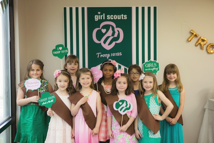 Glam Girl Scout Mother Daughter Luncheon via Kara's Party Ideas | KarasPartyIdeas.com (3)