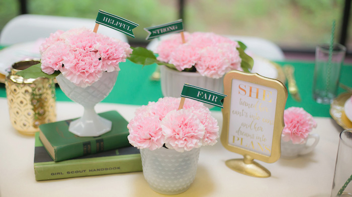 Glam Girl Scout Mother Daughter Luncheon via Kara's Party Ideas | KarasPartyIdeas.com (1)