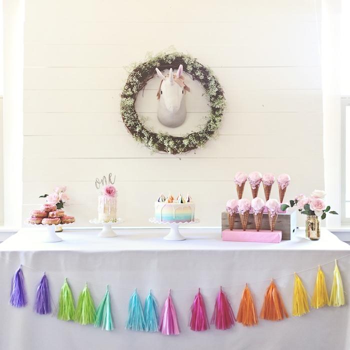 Glam Pastel Unicorn Themed Birthday Party via Kara's Party Ideas | KarasPartyIdeas.com (13)