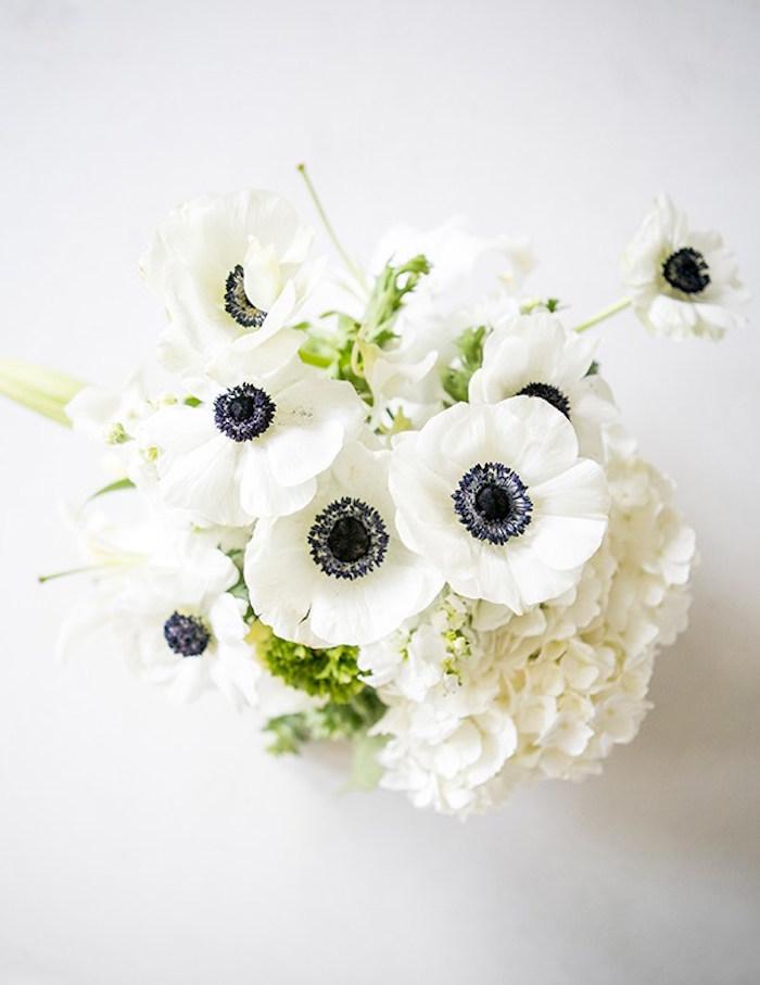 Gorgeous white floral arrangement from a Glamorous Hollywood Oscar Party via Kara's Party Ideas | KarasPartyIdeas.com (8)