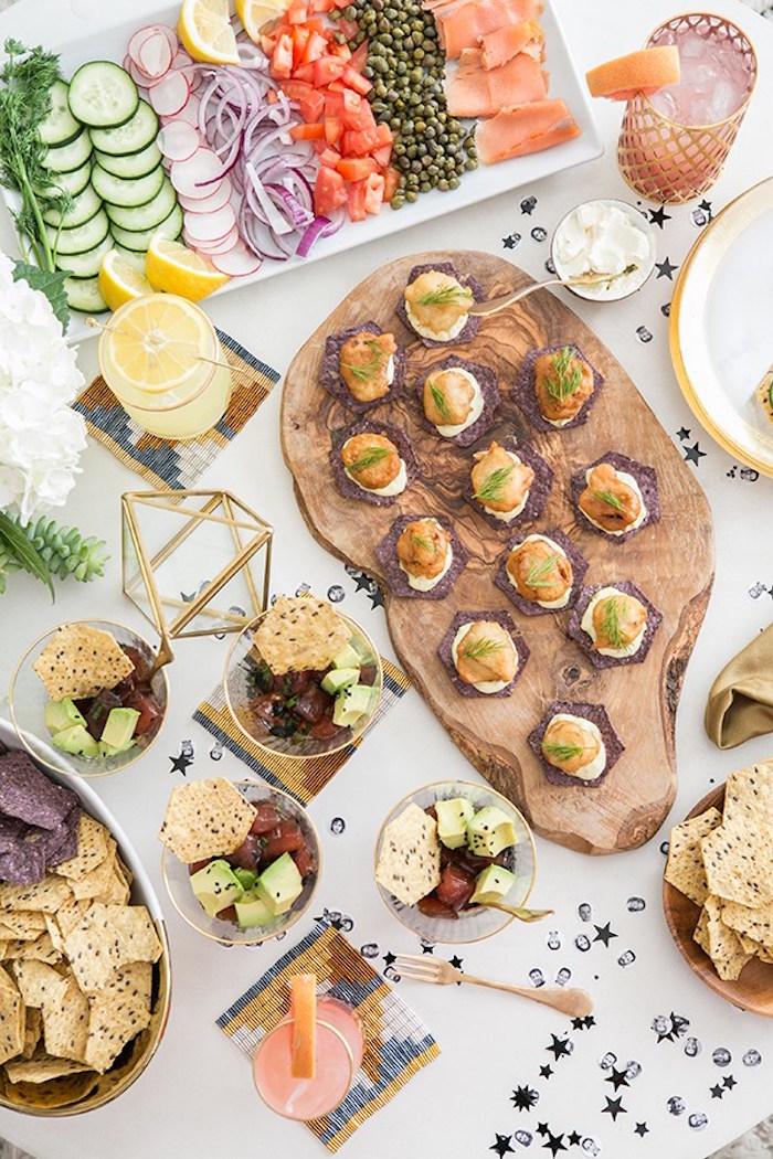 Food from a Glamorous Hollywood Oscar Party via Kara's Party Ideas | KarasPartyIdeas.com (5)