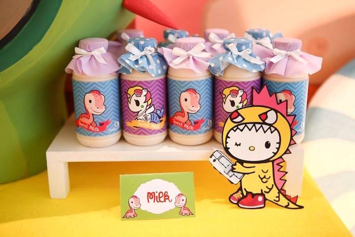 Character drink bottles from a Hello Kitty Tokidoki Themed Birthday Party via Kara's Party Ideas   KarasPartyIdeas.com (10)