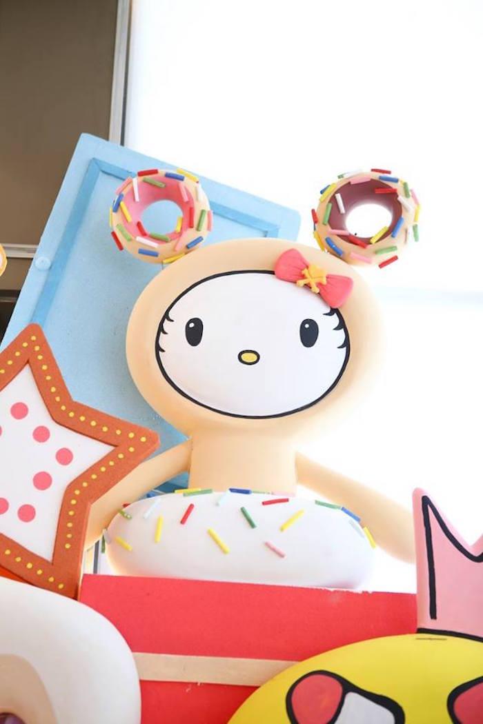 Donutella character prop from a Hello Kitty Tokidoki Themed Birthday Party via Kara's Party Ideas   KarasPartyIdeas.com (9)