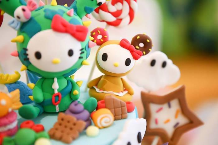 Tokidoki cake detail from a Hello Kitty Tokidoki Themed Birthday Party via Kara's Party Ideas   KarasPartyIdeas.com (8)