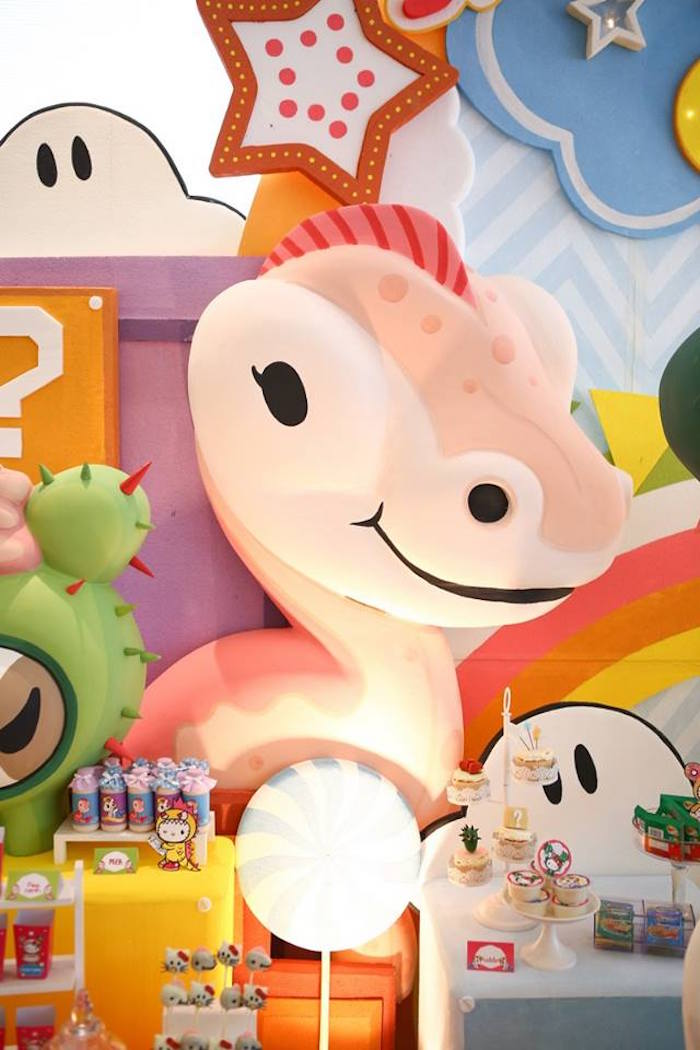 Tokidoki character prop + sweet display from a Hello Kitty Tokidoki Themed Birthday Party via Kara's Party Ideas   KarasPartyIdeas.com (7)