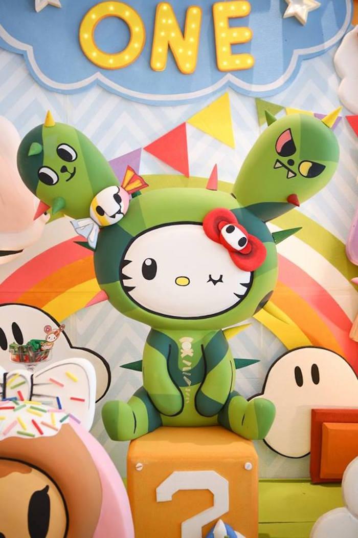 Cactus Friend Tokidoki character prop from a Hello Kitty Tokidoki Themed Birthday Party via Kara's Party Ideas   KarasPartyIdeas.com (6)