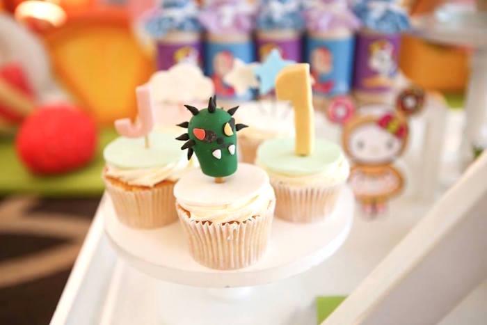 Cupcakes from a Hello Kitty Tokidoki Themed Birthday Party via Kara's Party Ideas   KarasPartyIdeas.com (5)