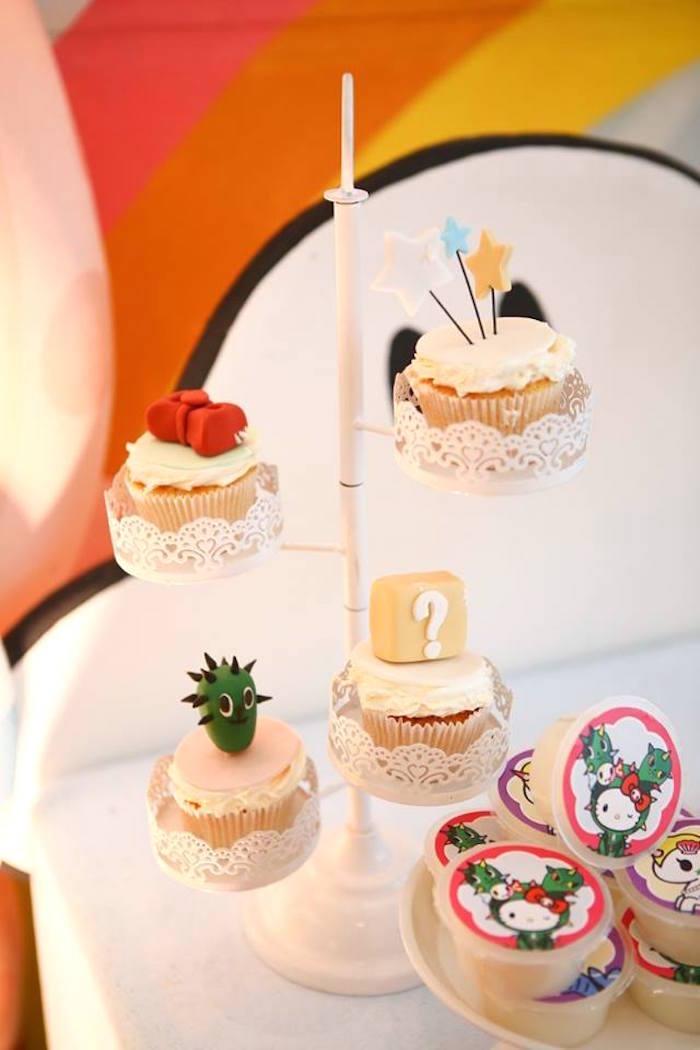 Tokidoki cupcakes from a Hello Kitty Tokidoki Themed Birthday Party via Kara's Party Ideas   KarasPartyIdeas.com (4)