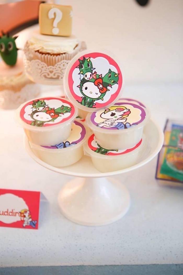 Favor cups from a Hello Kitty Tokidoki Themed Birthday Party via Kara's Party Ideas   KarasPartyIdeas.com (22)