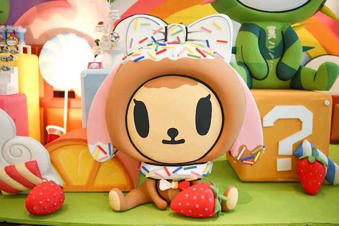 Donutina character prop from a Hello Kitty Tokidoki Themed Birthday Party via Kara's Party Ideas   KarasPartyIdeas.com (21)