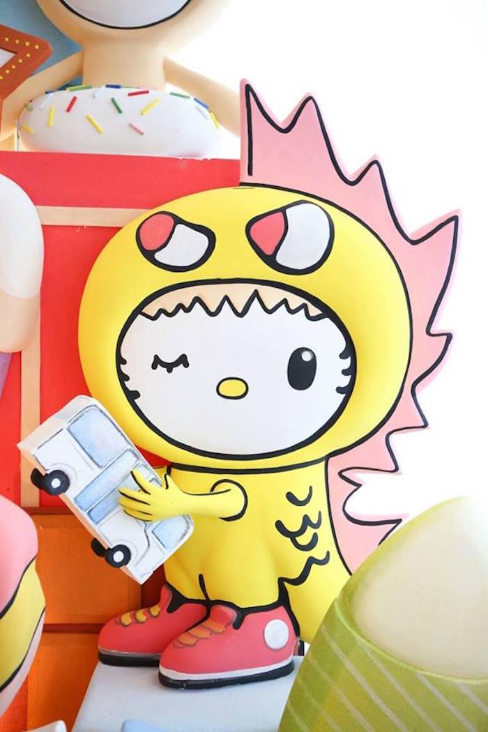 Backdrop character prop from a Hello Kitty Tokidoki Themed Birthday Party via Kara's Party Ideas   KarasPartyIdeas.com (17)