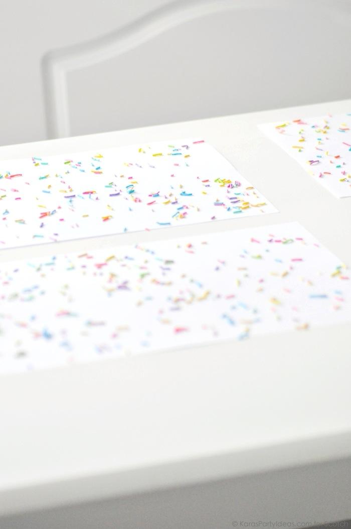 Ice Cream + Fox Party with DIY Sprinkles Place Mats! By Kara Allen | Kara's Party Ideas for Scotch Brand-3