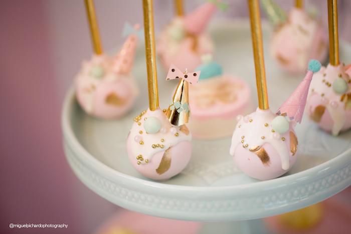 Adorable cake pops from an Ice Cream Shop Birthday Party via Kara's Party Ideas KarasPartyIdeas.com (15)