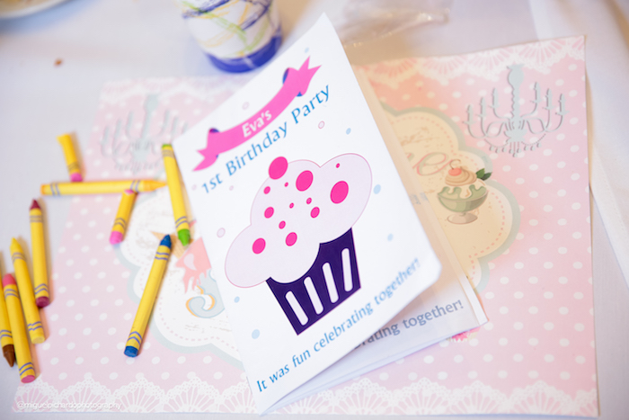 Coloring book favor from an Ice Cream Shop Birthday Party via Kara's Party Ideas KarasPartyIdeas.com (6)