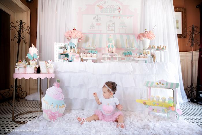 Ice Cream Shop Birthday Party via Kara's Party Ideas KarasPartyIdeas.com (4)
