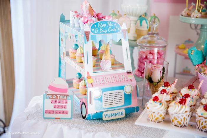 Cardboard ice cream truck from an Ice Cream Shop Birthday Party via Kara's Party Ideas KarasPartyIdeas.com (30)