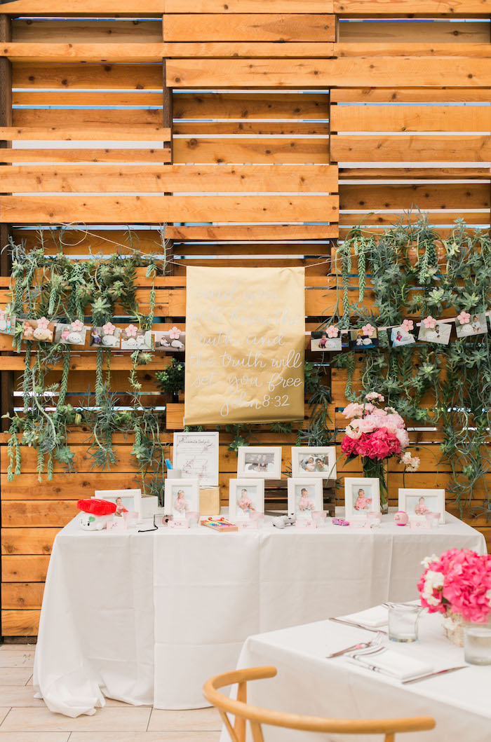 Korean Dol table from a Japanese Cherry Blossom 1st Birthday Dol via Kara's Party Ideas | KarasPartyIdeas.com (19)