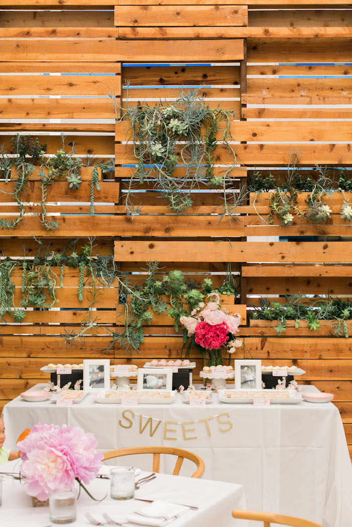 Sweet table from a Japanese Cherry Blossom 1st Birthday Dol via Kara's Party Ideas | KarasPartyIdeas.com (18)