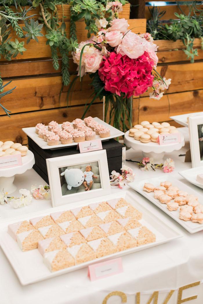 Sweets from a Japanese Cherry Blossom 1st Birthday Dol via Kara's Party Ideas   KarasPartyIdeas.com (13)