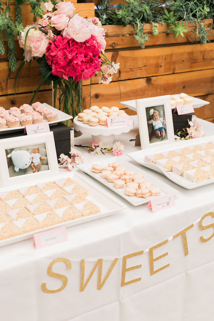 Sweets from a Japanese Cherry Blossom 1st Birthday Dol via Kara's Party Ideas   KarasPartyIdeas.com (12)