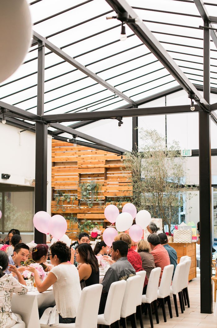 Partyscape from a Japanese Cherry Blossom 1st Birthday Dol via Kara's Party Ideas | KarasPartyIdeas.com (10)