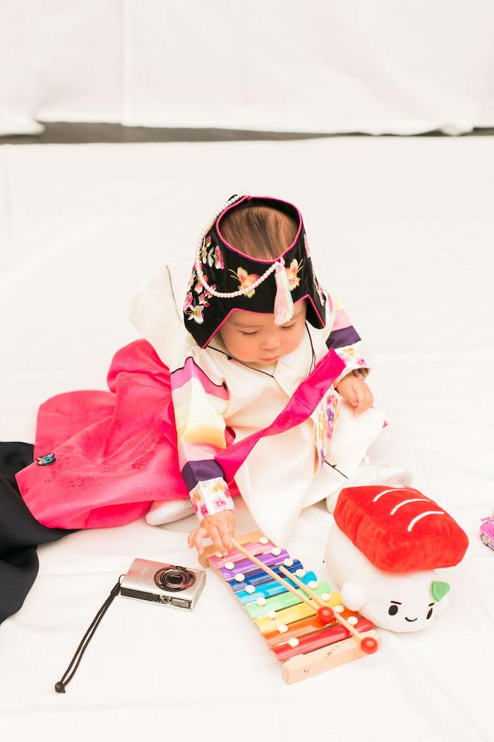 Dol game from a Japanese Cherry Blossom 1st Birthday Dol via Kara's Party Ideas   KarasPartyIdeas.com (6)