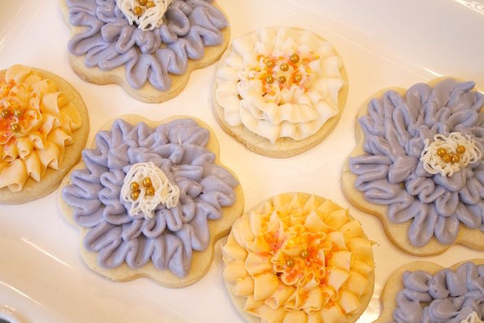 Cookies from a Ladies Floral Brunch Baby Shower via Kara's Party Ideas | KarasPartyIdeas.com (10)