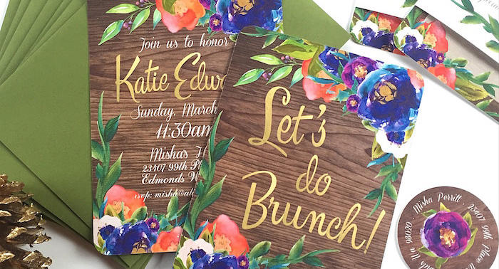 Ladies Floral Brunch Baby Shower via Kara's Party Ideas | KarasPartyIdeas.com (1)