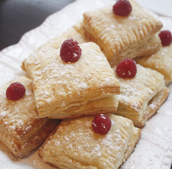 Raspberry topped pastries from a Ladies Floral Brunch Baby Shower via Kara's Party Ideas | KarasPartyIdeas.com (17)