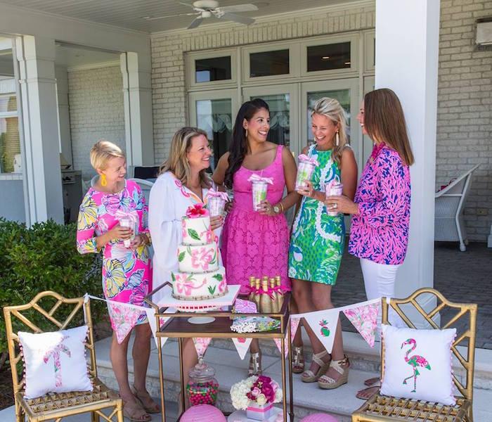 Lilly Pulitzer-Inspired Tropical Bridal Luncheon via Kara's Party Ideas | KarasPartyIdeas.com (11)