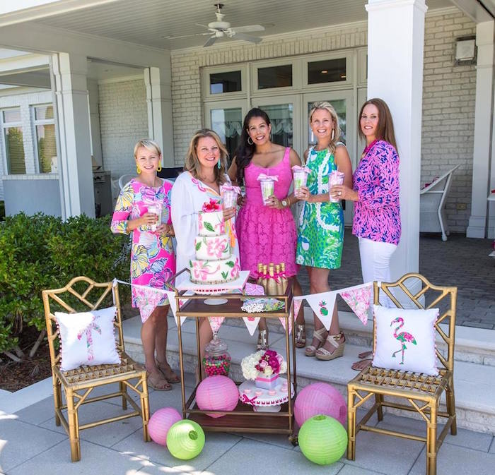 lilly pulitzer inspired tropical bridal luncheon via karas party ideas karaspartyideascom
