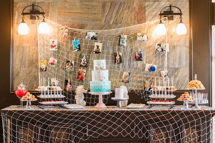 Dessert tablescape from a Mermaids & Pirates Birthday Party via Kara's Party Ideas KarasPartyIdeas.com (38)
