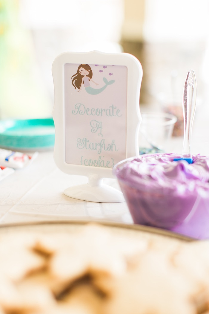 Cookie decorating station from a Mermaids & Pirates Birthday Party via Kara's Party Ideas KarasPartyIdeas.com (17)
