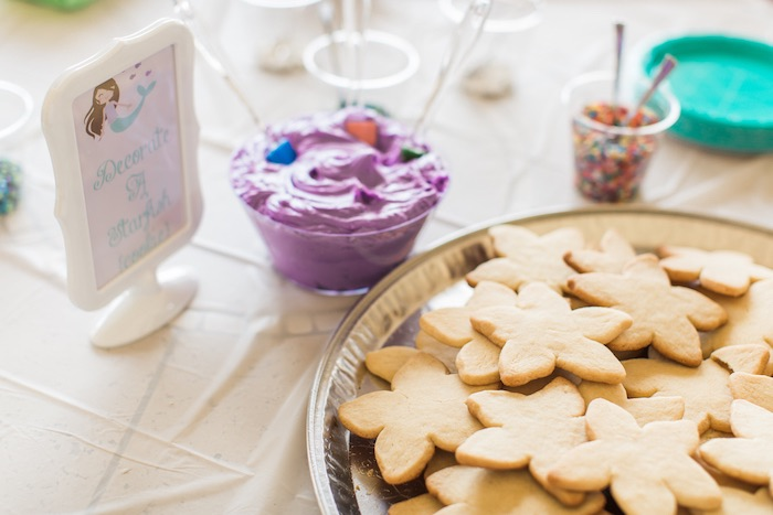 Star fish cookies to decorate from a Mermaids & Pirates Birthday Party via Kara's Party Ideas KarasPartyIdeas.com (16)